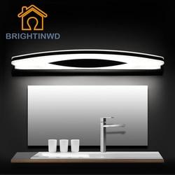 LED Mirror Light Wall Lampada AC90-260V 39cm 54cm 70cm 80cm Cosmetic Acrylic Indoor Bathroom Mirror Lamp BRIGHTINWD