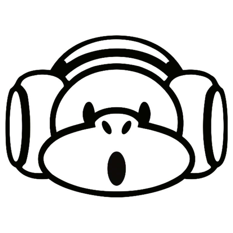 Car Stickers Cs-1227#19*14cm Music Monkey Funny Car Sticker Vinyl Decal Silver/black For Auto Car Stickers Styling Relieving Rheumatism And Cold