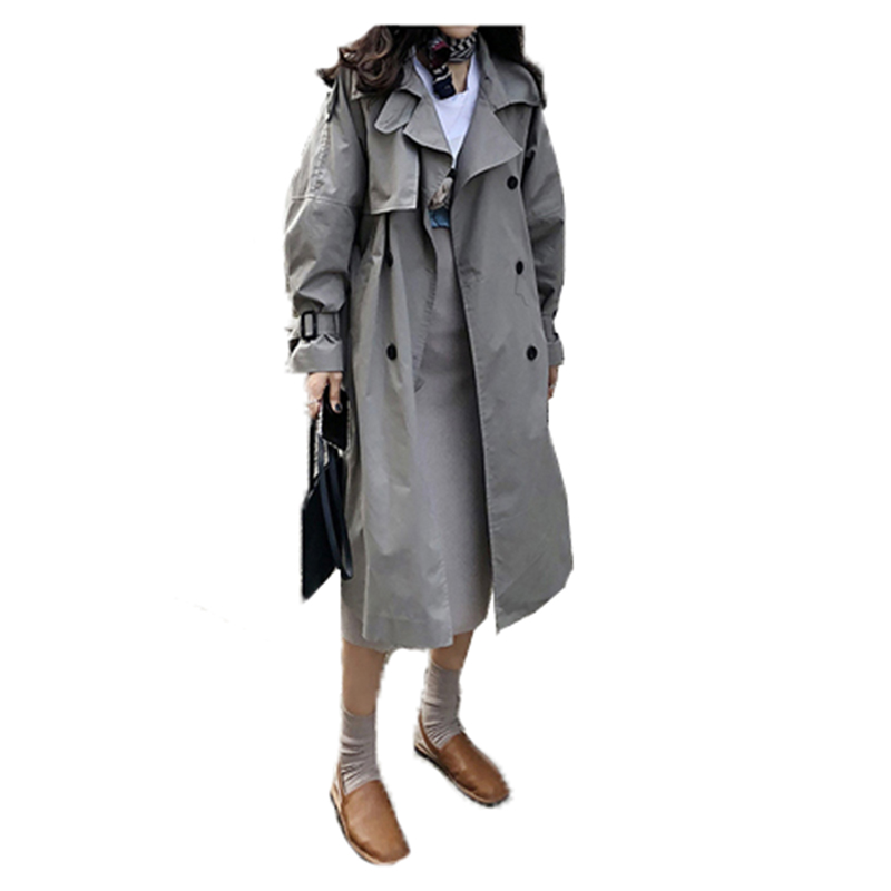 Spring and Autumn BF Trench coat female 2018 Fashion long casual windbreaker coat long-sleeved women outwears A237