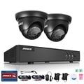 Annke 4ch 4 em 1 tvi cctv sistema kit dvr hdmi 2 PCS Onvif 1.0MP P2P Sistema de Câmera de Segurança Ao Ar Livre DVR Vigilância Kit
