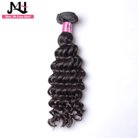 JVH Deep Wave Brazilian Hair Weave Bundles Human Hair Extensions Natural Color 100% Remy Hair