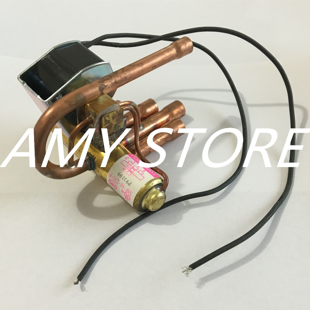 AC 220V 50/60Hz 4 Way 3Mpa Heat Pump Reversing Solenoid Valve for Air Condition high quality ac 220v 50 60hz 4 way 3mpa heat pump reversing solenoid valve for air condition free shipping