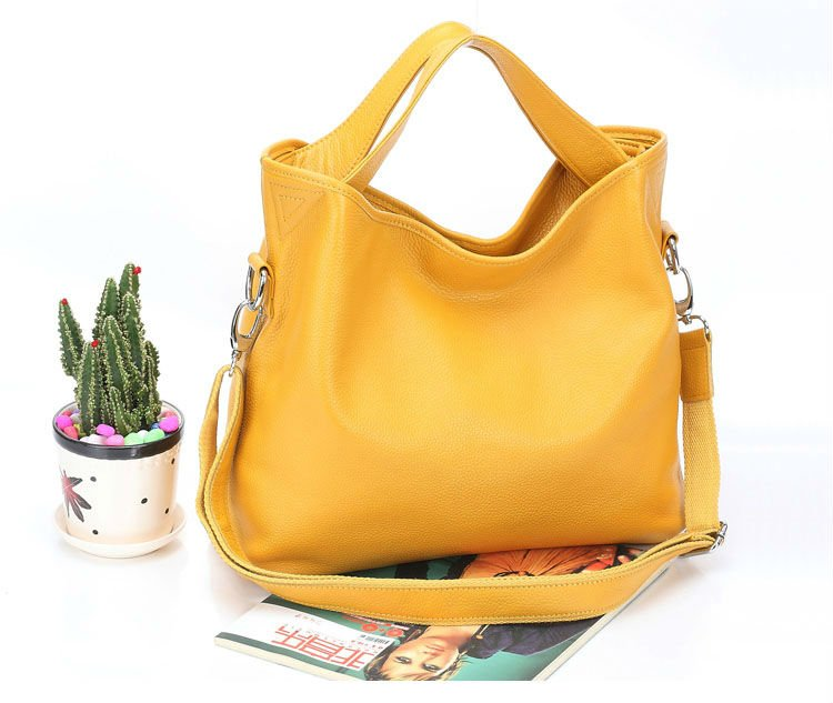 Fashion Women Handbag Genuine Leather High Quality Real Cow Brand Name Handbags Candy Color Tote Shoulder Bag In Bags From Luggage