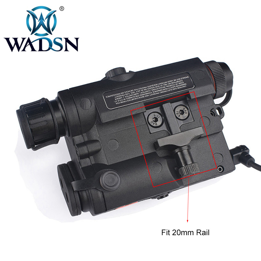 Image 4 - WADSN Airsoft PEQ15 LA 5C AN/PEQ UHP Green and Red Double Laser Flashlight for Hunting Softair LA5 Zero stop WEX450 Weapon Light-in Weapon Lights from Sports & Entertainment