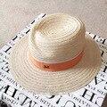 Verano de moda m de ala ancha sunbonnet sombrero protector solar sombrero del jazz strawhat casquillo de la playa femenina de lujo