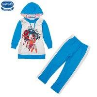 Nova Kids Clothing Sets Girls Suits Autumn Winter Clothes Sets Fashion Girls Coat Sets High Sale
