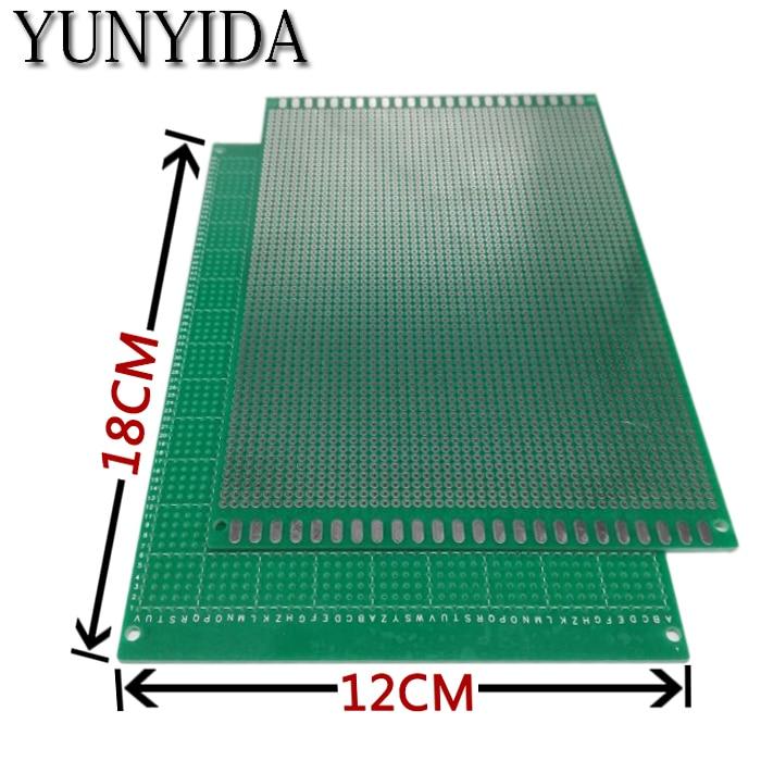 98-22 Free Shipping 1pcs 12x18cm  Single Side Prototype PCB Universal Printed Circuit Board