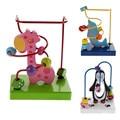 Детские Игрушки Дети Милый Мультфильм Dolphine Пингвин Жираф Игрушки Деревянные Бусы Вокруг Бусы Развивающие Игрушки для Детей