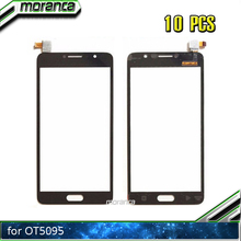 10pcs Touch Screen for Alcatel PoP 4S OT 5095 5095B 5095I 5095K 5095Y OT5095 Touch Digitizer Panel Front Glass Lens Sensor Black