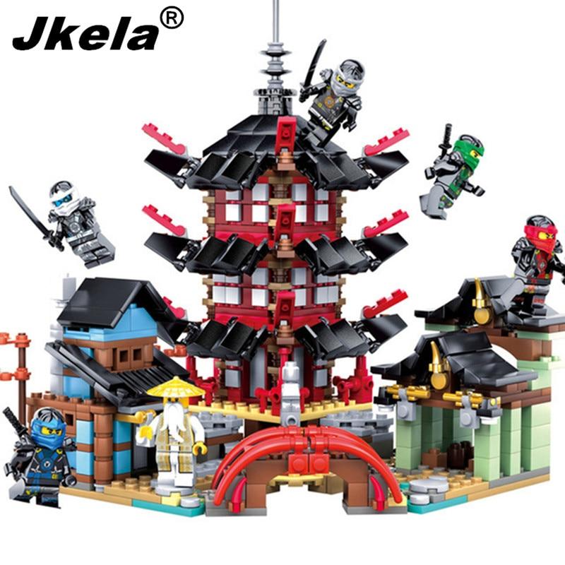 Jkela 2017 Ninja Temple 737+pcs DIY Building Block Sets Educational Toys for Children Compatible With Legoingly Ninjagoingly 214pcs 10319 ninja dojo showdown jouet de construction compatible with lepin building block toys for children