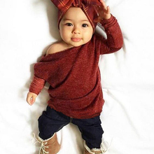 2 PCS Children Clothes Set 2017 Kids Girls Clothing Set Long Sleeve Knitted Sweater+Long Pants Outfits Baby Girl Sets 1-5Y