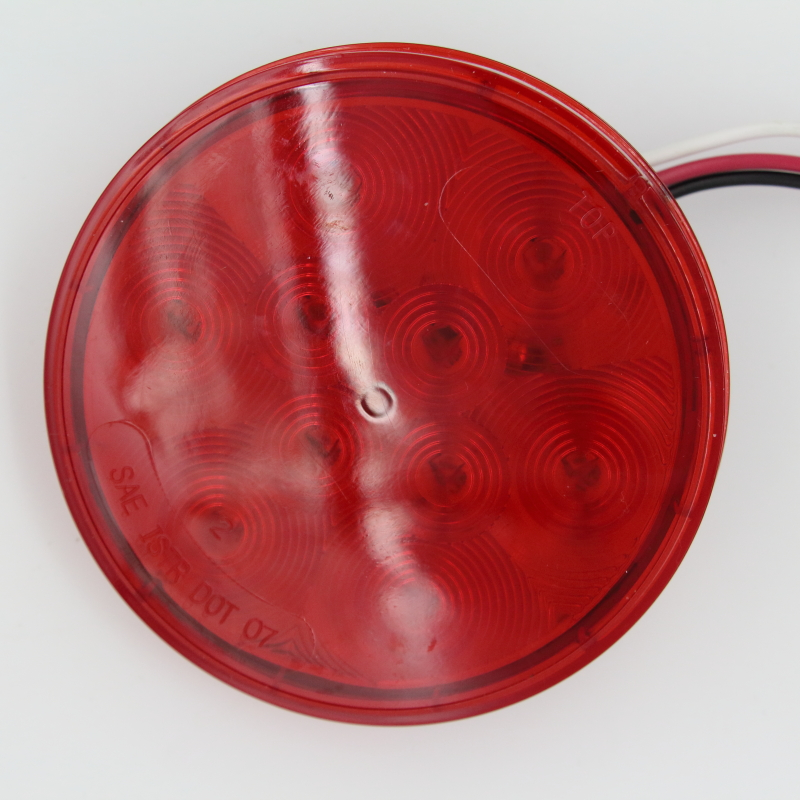 US Canada 4 Inch 12V Round Sealed Red 10 <font><b>LED</b></font> Truck Tail Stop Light Back Up Kit Automobile <font><b>Signal</b></font> Brake Lamp with Plug Grommet