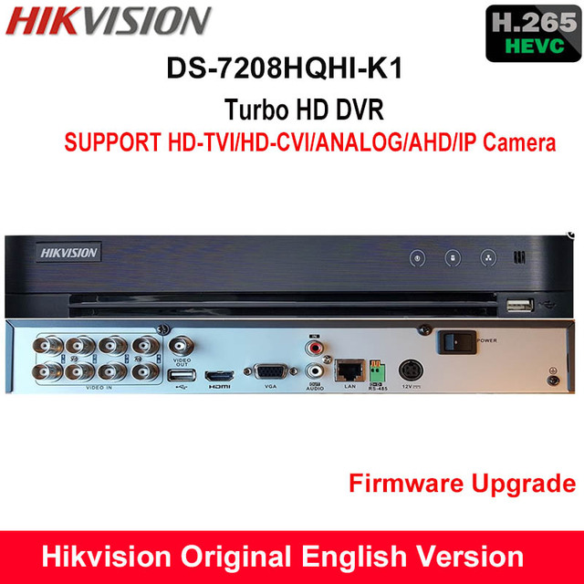 US $250 0 |Hikvision International H 265 Turbo HD DVR DS 7208HQHI K1  replace DS 7208HQHI F1/N SUPPORT 1080P HDTVI/AHD/Analog/IP Camera-in  Surveillance
