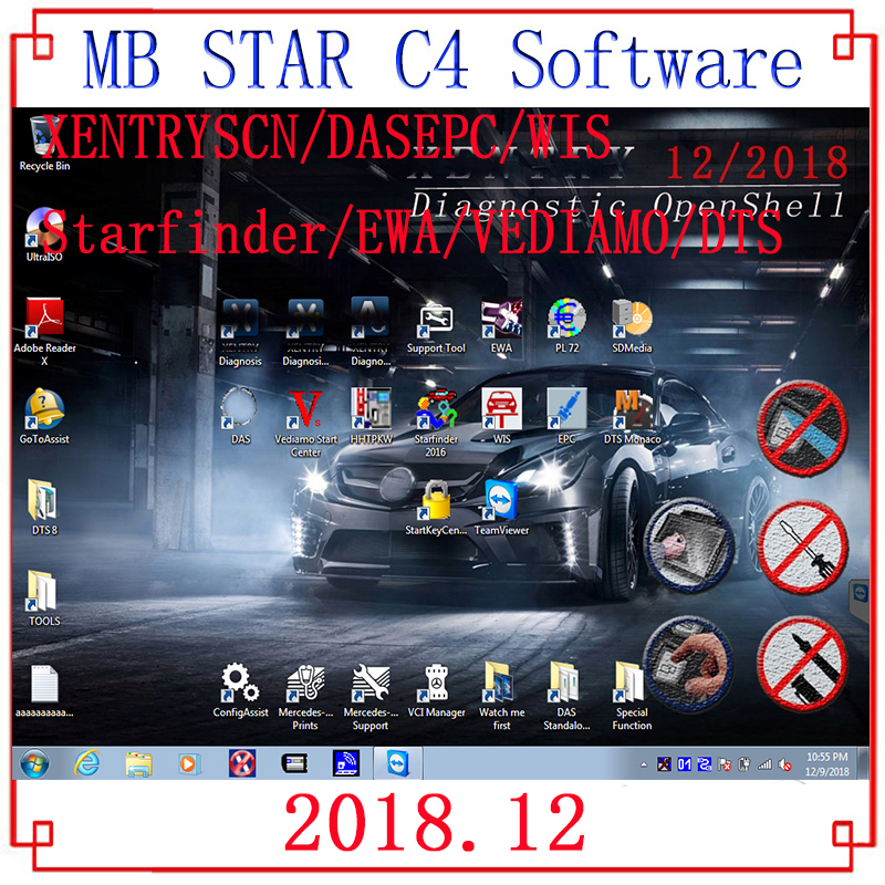 Quality mb star C4 C5 2019 07 newest full software with 320Gb HDD SSD 07 2019V