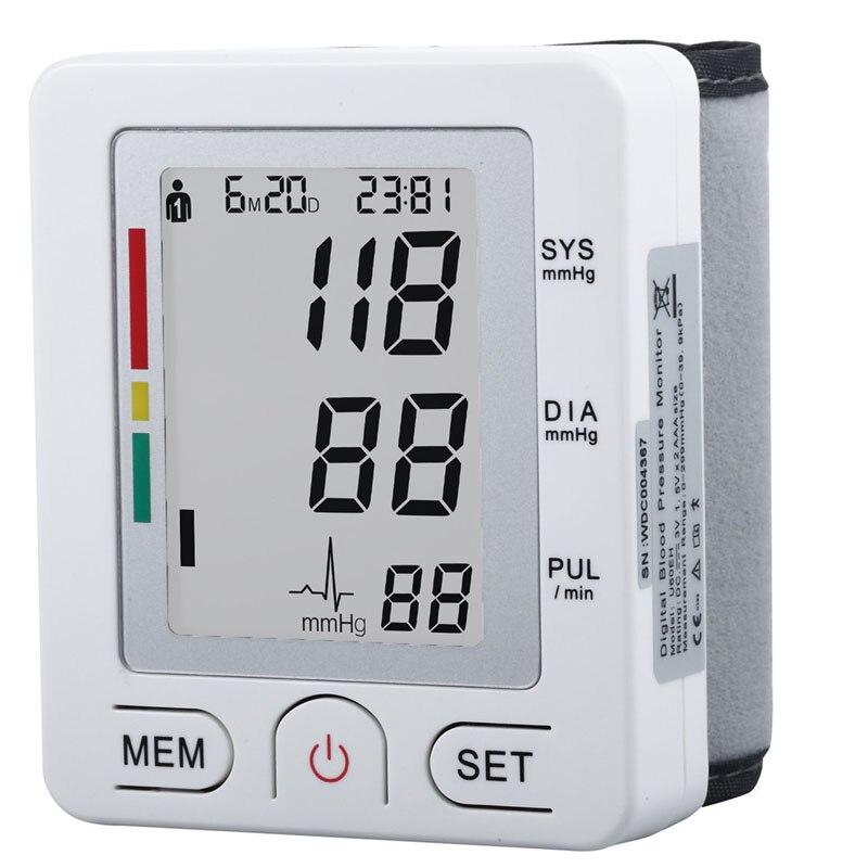 Assistenza Sanitaria Stile Completamente Automatico Da Polso Digital Monitor di Pressione Sanguigna dispositivo per Misurare la Frequenza del Polso Misuratore di glucosio Tonometro