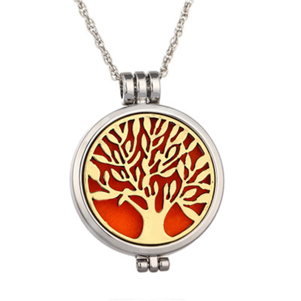 Luminous Life Tree Phase Box Disc Necklace Luminous Opening Aromatherapy Disperser Item image