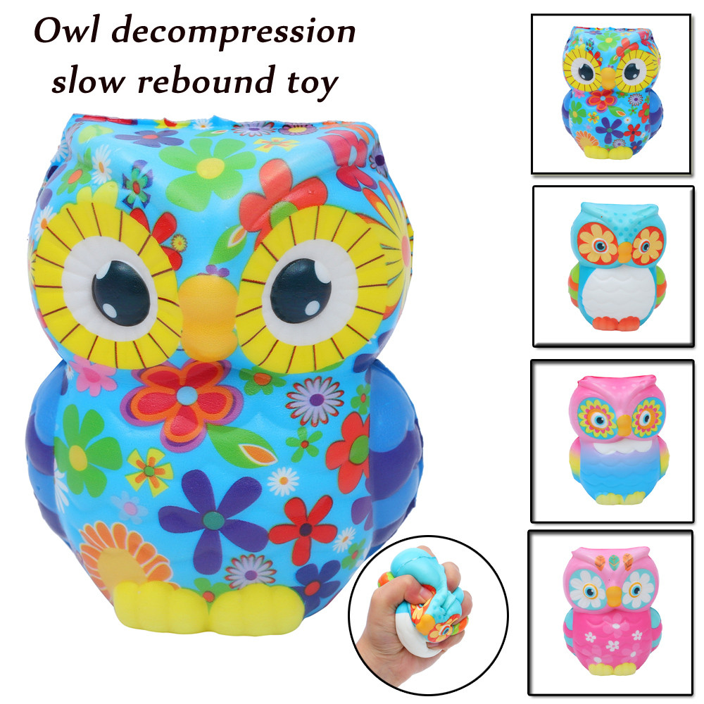 Original Kawaii Cute Slow Rising Lovely 1PCS Skuishy Cute Animal Owl Scented Slow Rising Decompression Gift Toys Dropshopper