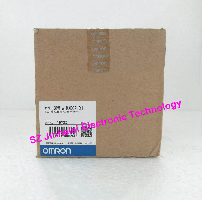 New and original CPM1A-MAD02-CH (CPM1A-MAD02) OMRON PLC Analog input/output unit [zob] 100% brand new original authentic omron omron photoelectric switch e2s q23 1m 2pcs lot