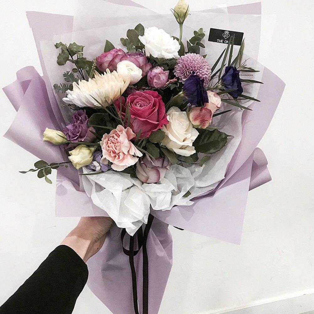 Online Shop Korean Flower Waterproof Wrapping Paper Packaging Gift