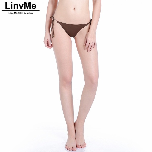 25fcefc3aa Linvme 2018 Women Bikini Bottoms Swimwear Separate Swimming Black Swimsuit  Panties Woman Beach Sports Plus Size S M L XL XXL