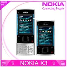 X3 Original Nokia X3 Mobile Handy Bluetooth 3.2MP MP3 Player X3-00 Slider Handy Entsperrt & Ein jahr garantie