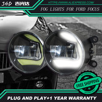 Voor Ford Focus 2004-2014 LR2 Auto styling voorbumper LED mistlampen hoge helderheid mistlampen 1 set