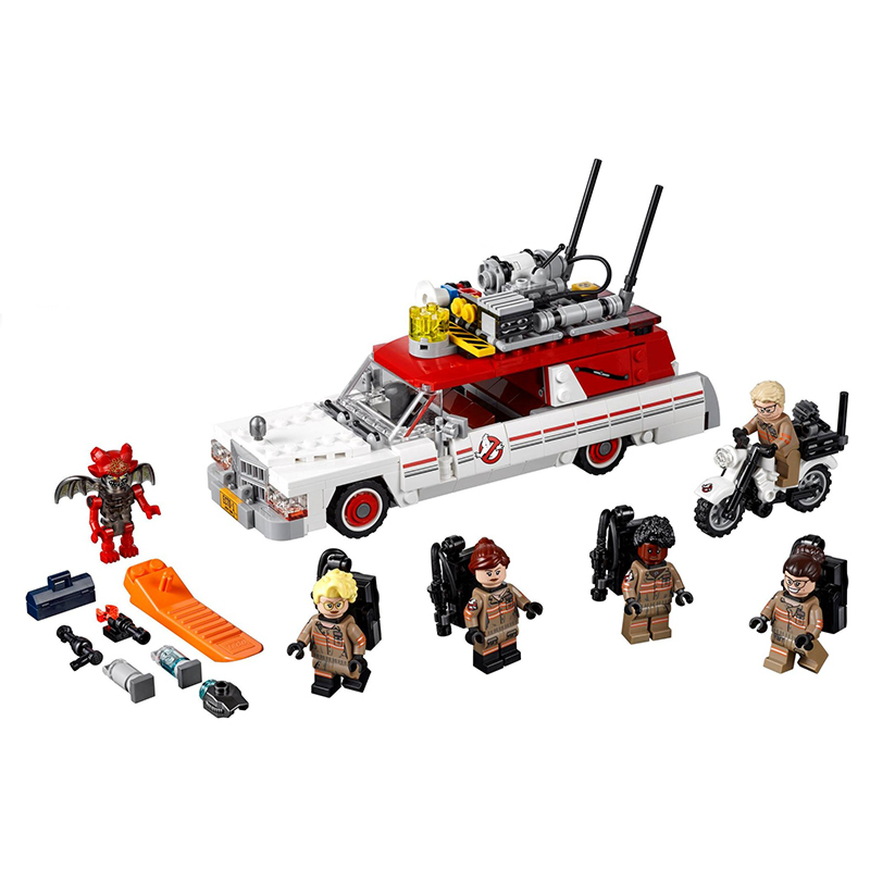 Lepin 16032 Ecto-1&2 building bricks blocks Toys for children boys Game Model Car Gift Compatible with Decool Bela 75828 lepin 02012 city deepwater exploration vessel 60095 building blocks policeman toys children compatible with lego gift kid sets