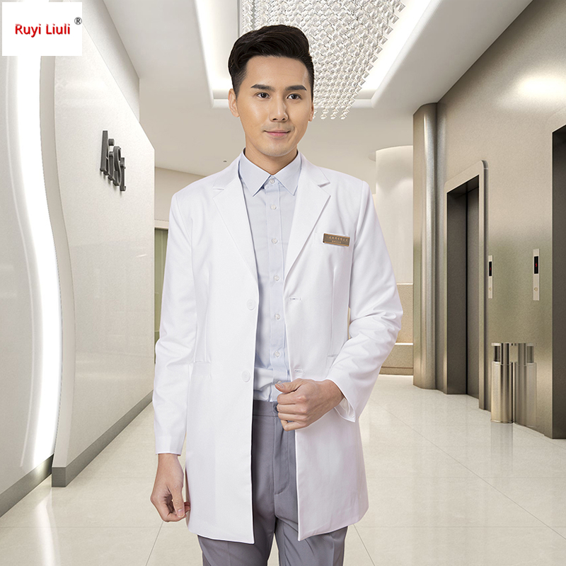 Cosmetic Plastic Surgery Hospital Men And Women Doctors Uniform Dental Stomatologist Long Sleeve White Coat Suit Coat