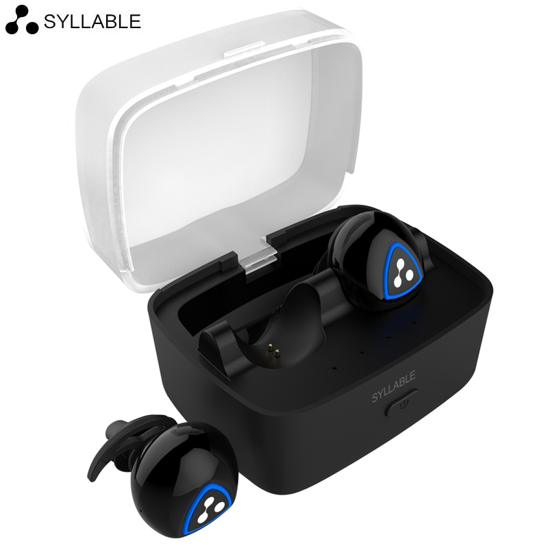 Syllable D900S Stereo Bluetooth Earphone Sport Headset Mini Wireless in-ear Earbuds with Charge Base for iPhone7 Plus VS AirPods bluetooth earphone earbuds with car charger 2 in 1 driver mini wireless bluetooth headset earphone for iphone android smartphone
