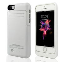Candy Color Portable Charger Case 2200mAh For IPhone 5 5C 5S SE Backup Battery Kickstand Mount