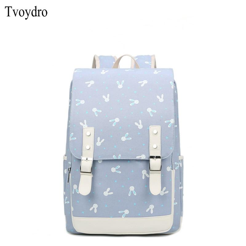 9b65ed2aa5 Tvoydro Junior High School Student Bag Female College Wind Backpack Canvas  small fresh female backpack Cute pretty girl bag-in School Bags from  Luggage ...