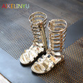kids girl sandals 2017 Summer New Children shoes girls Roman sandals woven hollow Gaotong  open-toed cool sandals boots silver