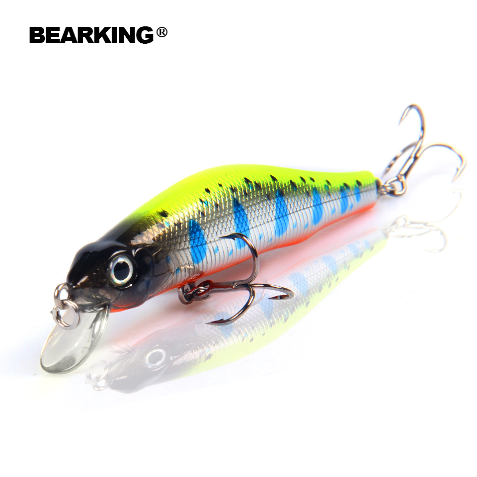Bearking 8cm/8.5g magnet system quality fishing lure, assorted color minnow crank 2017 hot model crank bait excellent paint