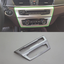 Car Accessories Interior Decoration ABS Middle Console Air Condition Vent Frame Cover Trim For BMW X1 2016 Car Styling цены
