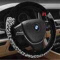 Venda quente Lint-free e não-fade leopardo tampa da roda de direcção do carro lzh