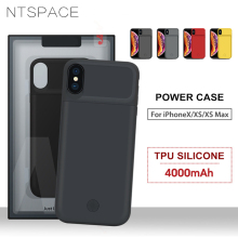 NTSPACE Ultra Thin Power Bank Back Cover For iPhone XS Max XR Portable Clip Battery Charger Case X