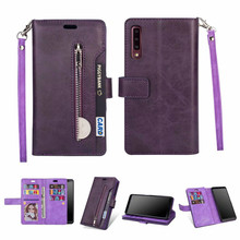 Zipper Wallet Leather Case for Samsung Galaxy A10 A20 A30 Multifunction Phone Cover A50 A70 A40 A20E M20