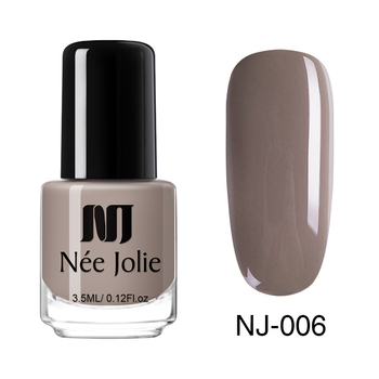 Coffee Gray Red Series Nail Art Polish Beauty & Skin Care Nail Art Color: 3.5ml NJ006
