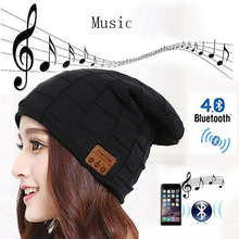 Bluetooth 4.2 Music Hat Headphone Headset Earphone With Mic Winter Sports Hat Cap Stereo Speaker, Support TF Card,Christmas gift