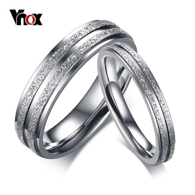 Vnox Forever Love Engagement Rings for Women Men Stainless Steel Wedding Bands C