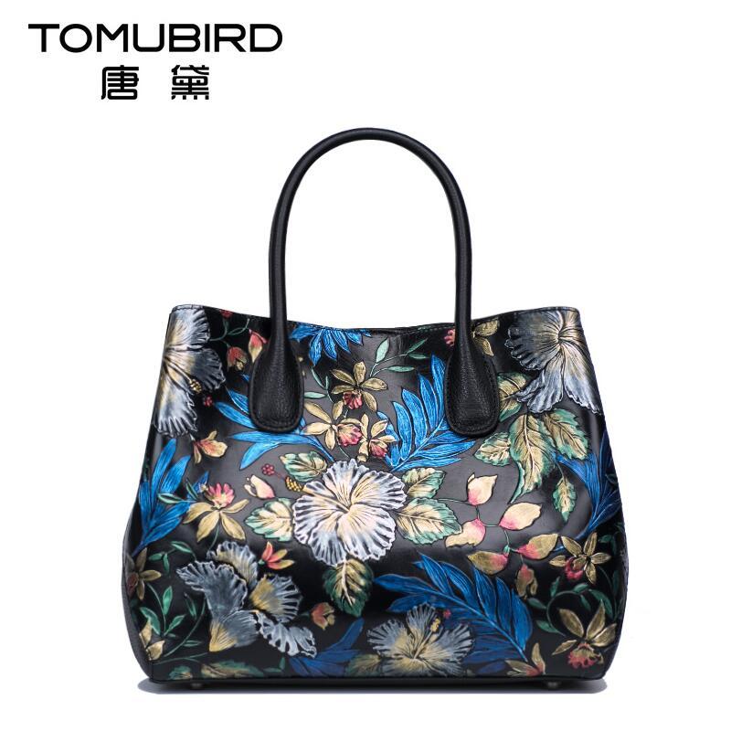 Famous brand top quality dermis women bag National wind hand bag Chinese style painting printing handbag Vintage Boston bag все цены