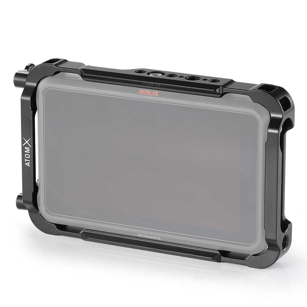 """Jaula de montaje de forma para Atomos Ninja V 5 """"4 K HDMI caja de Monitor de grabación con rieles de la NATO incorporados abrazadera de Cable HDMI-2209"""