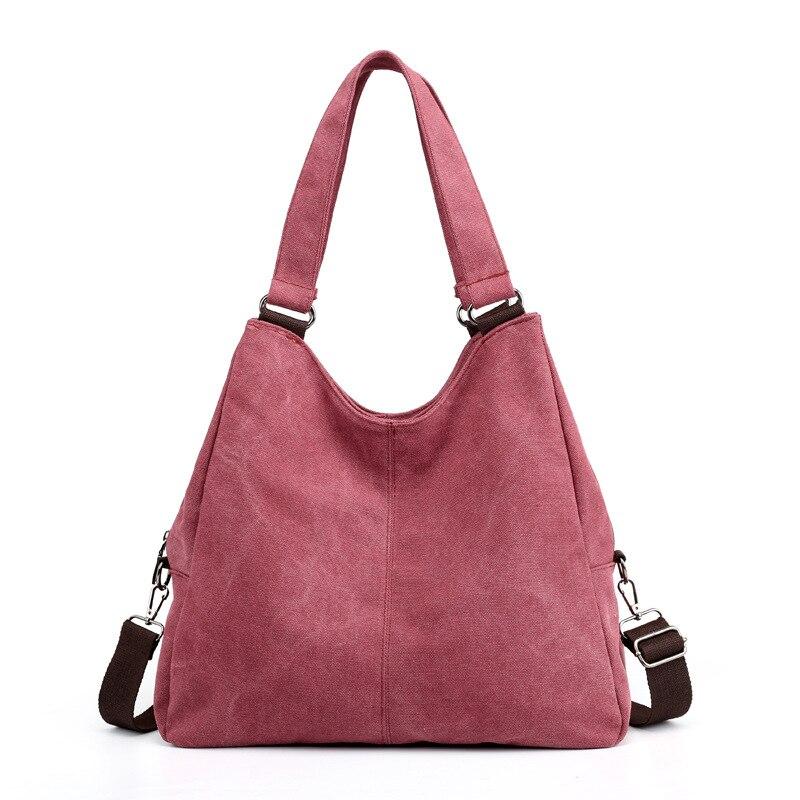 09ca11508 Vintage Hobo Women's Bag Canvas Handbag Female Famous Designer Shoulder Bag  Ladies Tote Fashion Large Sac a Main bolsos Mujer