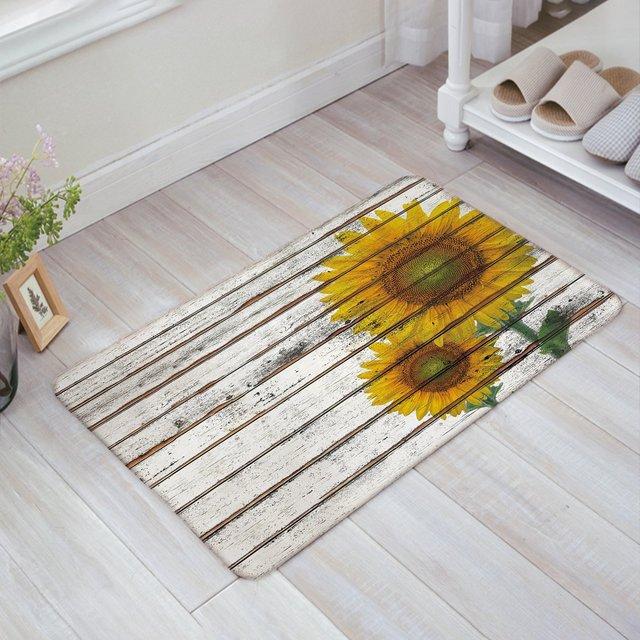 Doormat Large Small Inside Outside Front Door Mat Carpet Floor Rug Imitation Hand Painted Watercolor