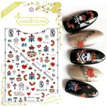 Newest TSC-117 3d nail sticker Japan style decals self-adhesive back glue decorations