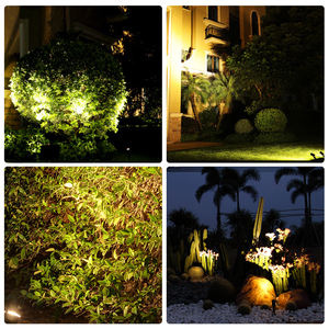 Image 5 - T SUNRISE Solar Light LED Green Landscape Lamp Two Spotlights with Solar Panel Outdoor Garden Light Courtyard Decoration IP65