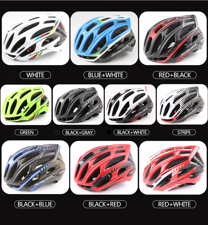 Cycling Helmet Integrally-molded Bicycle Helmet Road Mountain MTB Bike Ultra light Helmet With LED Lights Glasses Bike Equipment (2)