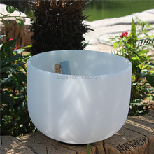 10 Note C/D/E/F/G/A/B 432Hz Frosted Quartz Crystal Singing Bowl