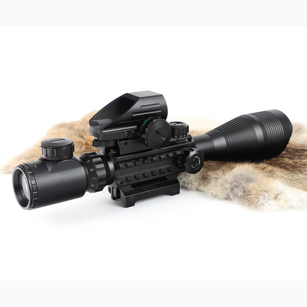 Ohhunt Jacht Airsofts Riflescope 4-12X50 EG Tactical Air Gun Rood Groen Dot Laser Sight Scope Holografische Optics Rifle Scope