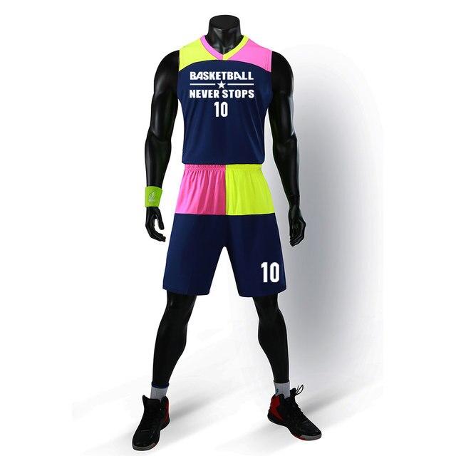 High quality college basketball kits men custom basketball uniforms adult  basketball sets DIY basketball jerseys new 2018 3fede275c